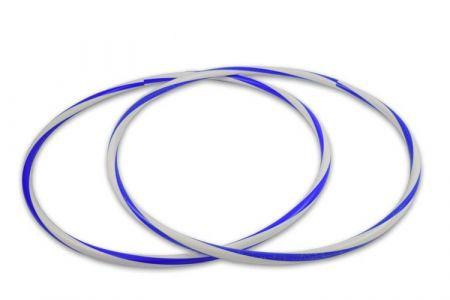 Arco e bambolê com cores em espiral com brilho 86cm de diâmetro Pista e Campo