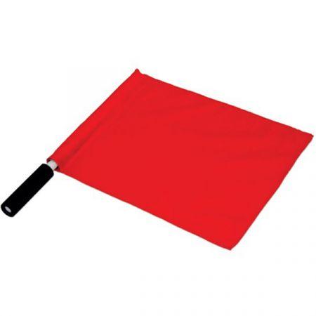 Bandeira de árbitro com cabo de PVC Pista e Campo