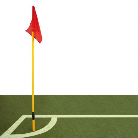 Bandeirola de escanteio oficial de futebol de campo reclinável Pista e Campo - cnj com 4 und - capa