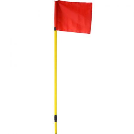 Bandeirola de escanteio oficial de futebol de campo reclinável Pista e Campo - cnj com 4 und