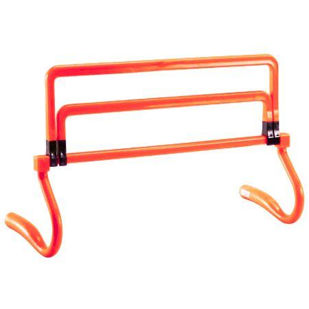 Barreirinha de PVC para treinamento Pista e Campo - Largura: 44cm. Altura ajustável (com extensores): 15 a 38cm