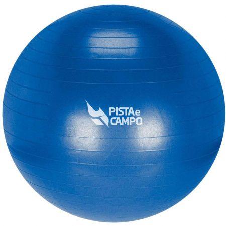 Bola de ginástica pilates (gym ball) inflável 65cm azul anti estouro Pista e Campo - com bomba