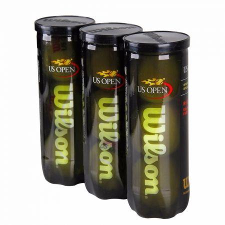 Bolinha-bola de tênis de campo US Open Regular Duty Wilson - tubo com 3 und