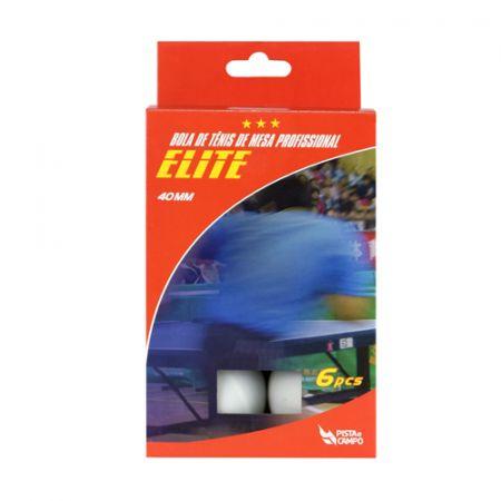 Bolinha de tênis de mesa Elite Pista e Campo - cnj com 6 und