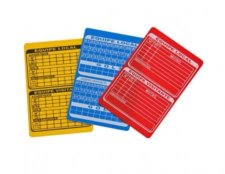 Cartão de árbitro oficial para futsal e futebol de salão Pista e Campo - cnj com 3 und