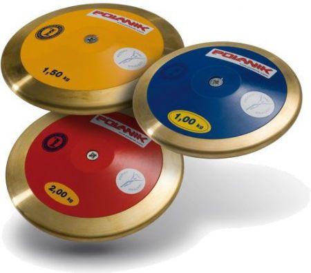 Disco de bronze e fibra de carbono 1,5kg IAAF Polanik