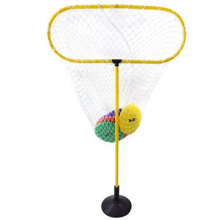 Disc Golf (Golfe de Disco) para iniciantes - Kit de alvo com rede e 04 frisbees coloridos Pista e Campo