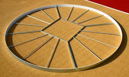 Círculo de aço para piso do setor de martelo ou peso IAAF Polanik