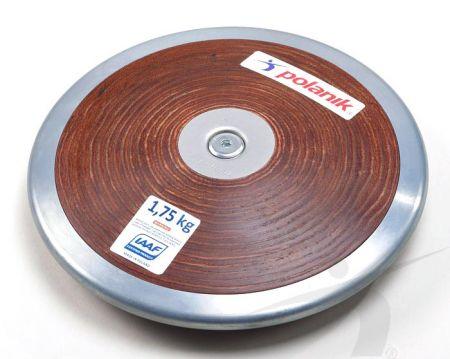 Disco de aço inox e madeira 1,75kg IAAF Polanik - MODELO NOVO!