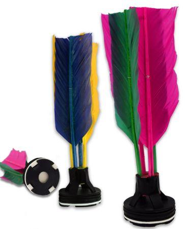 Peteca oficial com penas coloridas Pista e Campo