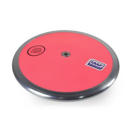 Disco de aço ABS 1kg intermediário com pratos substituíveis IAAF Vinex capa