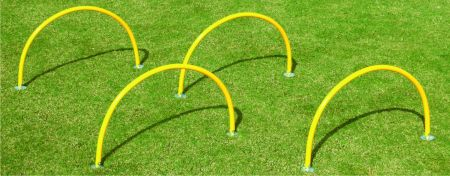 Arco de PVC fixo para treinamento de agilidade e drible Pista e Campo