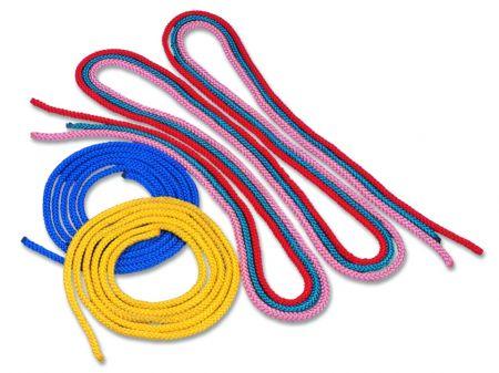 Corda de ginástica rítmica com 10mm de espessura e 3m de comprimento Pista e Campo