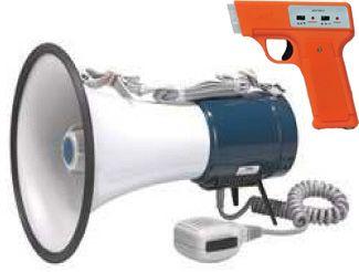 Pistola e disparador eletrônico para partida com megafone 35W Jex