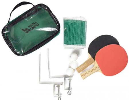 Kit de tênis de mesa com rede, raquetes e bolinhas Pista e Campo