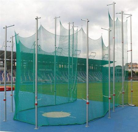 Gaiola de atletismo desmontável de alumínio IAAF Polanik