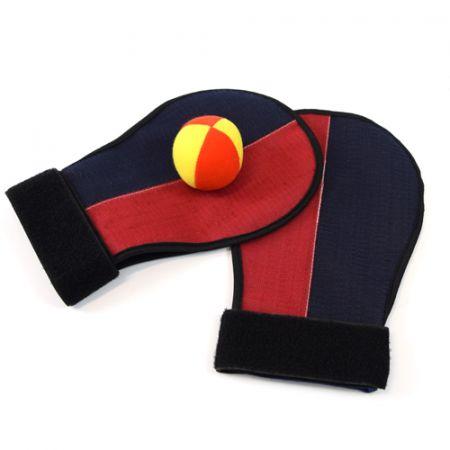 Luvas e bola com velcro para recreação infantil Pista e Campo