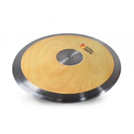 Disco de aço e madeira 0,75kg Pista e Campo  capa