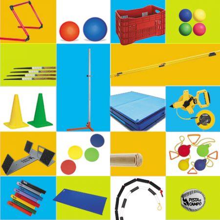 Kit de materiais para atletismo do programa Mais Educação