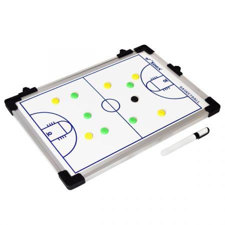 Quadro tático para treinamento esportivo basquete 45x30cm Vinex