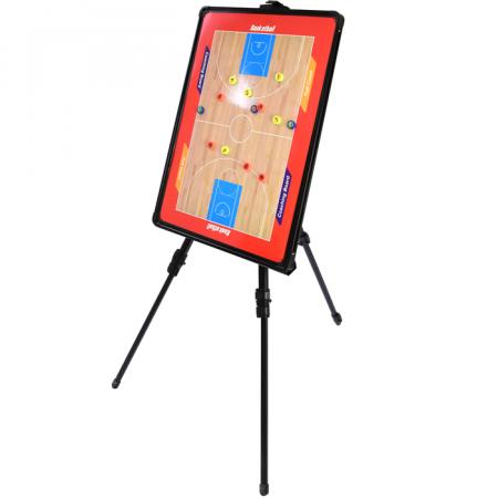Quadro tático com caneta, apagador, tripé e bolsa para treinamento de basquete Pista e Campo