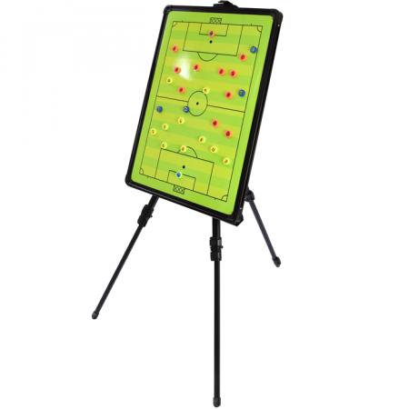Quadro tático com caneta, apagador, tripé e bolsa para treinamento de futebol Pista e Campo