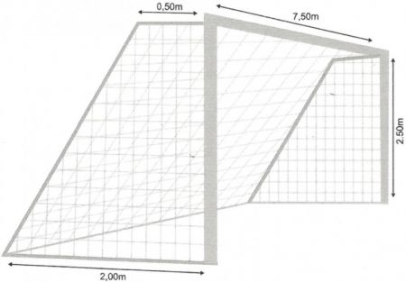 Rede oficial de futebol de campo brasileiro (tradicional) 7,50m em polietileno com fio 4mm Spitter - Par