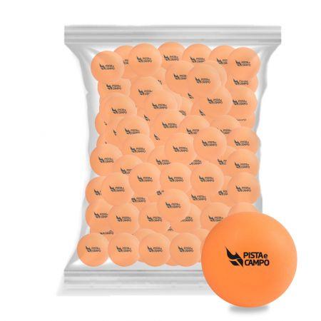 Bolinha de tênis de mesa de treinamento Pista e Campo - cnj com 100 un pacote laranja