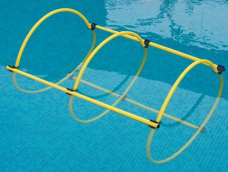 Túnel de arcos de PVC para natação flutuante Pista e Campo