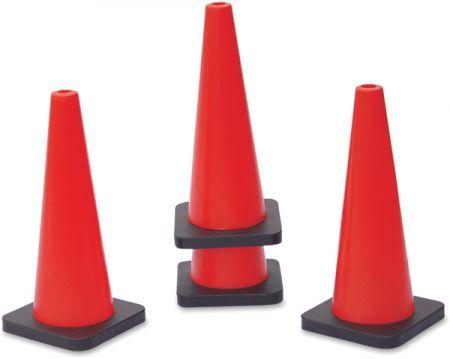 Cone de sinalização 50cm de PVC base removível Pista e Campo