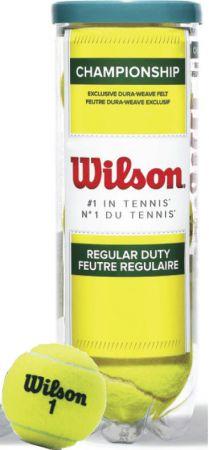 Bolinha e bola de tênis de campo Championship Regular Duty Wilson - tubo com 3 und